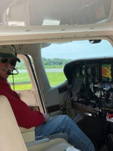 US Aircraft Finance owner and founder Dave Savoie enjoying his personal plane